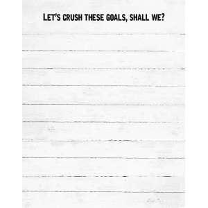 Crush Goals Notepad - # 50053