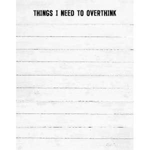 Overthink Notepad - # 50054