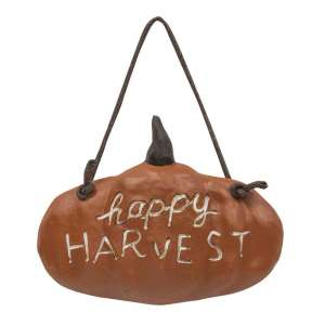 Happy Harvest Pumpkin Hanger #13160