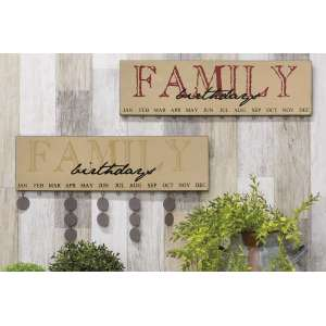 Birthday Calendar - FAMILY - 2 asst. #32505