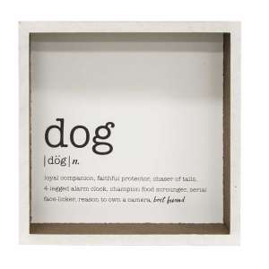 Dog Definition Shadow Box Sign #34919