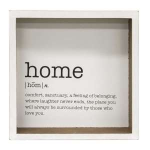 Home Definition Shadow Box Sign #34922