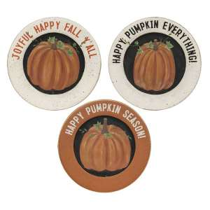 Happy Pumpkin Season Plates 3/Asst #34993