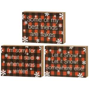 Best Friends Are Flakes Mini Blocks, 3 asst. #35053