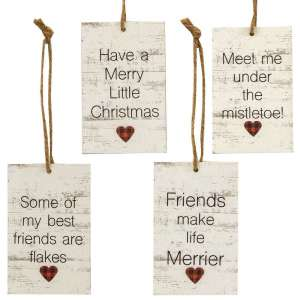 Friends Heart Tag Ornaments - Set of 4 - # 35055