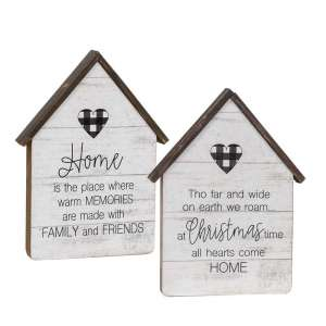 Home Buffalo Check Heart House 2/Asst #35060