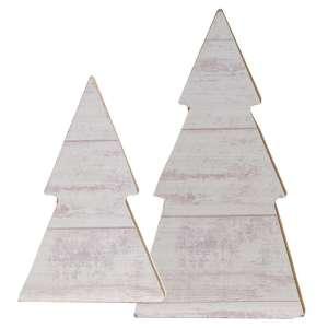Tree Sitters, White Shiplap - Set of 2 #35068