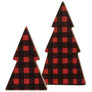Tree Sitters, Red Buffalo Check - Set of 2 #35069