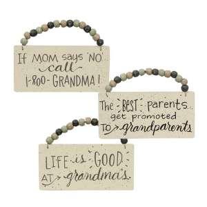 Life Is Good At Grandma's Beaded Ornament, 3 Asst. #35108