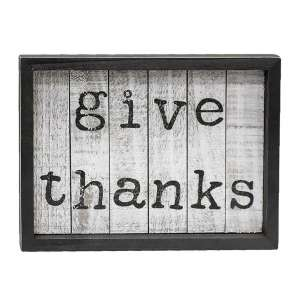 Give Thanks Framed Shiplap Sign #35121
