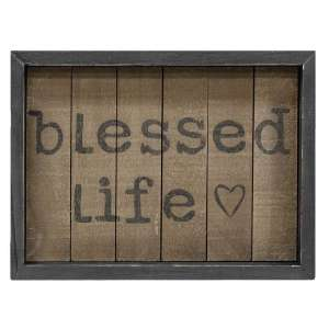 Blessed Life Slat Sign #35125