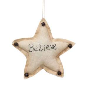 Believe Star Ornament #CS37899