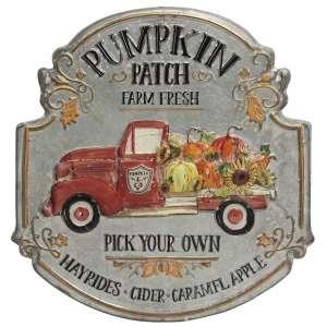 Pumpkin Patch Truck Metal Sign #60342