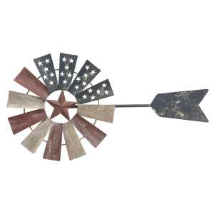 Distressed Americana Windmill Wall Art #70044