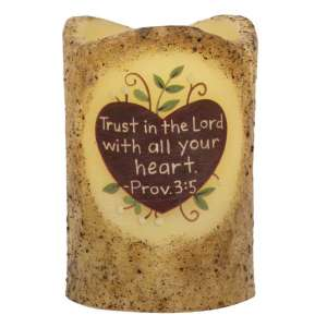 Trust in the Lord Timer Pillar #84837
