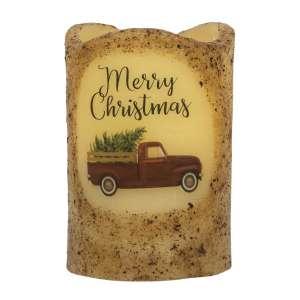 Merry Christmas Truck Timer Pillar #84842