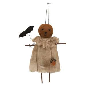 Patches Pumpkin Girl Ornament #CS36924