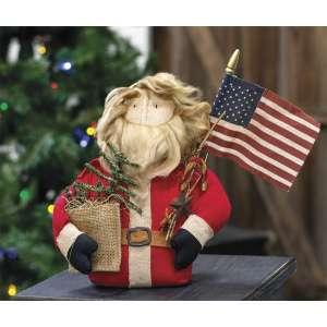 Patriotic Santa Doll - CS37546