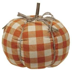 Orange Buffalo Check Pumpkin - Large #CS37709