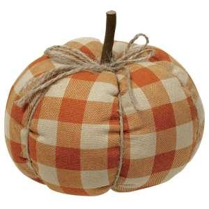 Orange Buffalo Check Pumpkin - Medium #CS37712