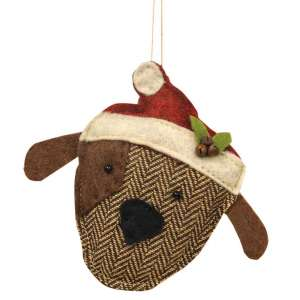 Fabric Dog Ornament #CS37855
