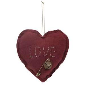Love Heart Pillow Ornament #CS37900