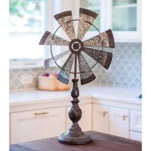 Rustic Windmill Pedestal #g90359
