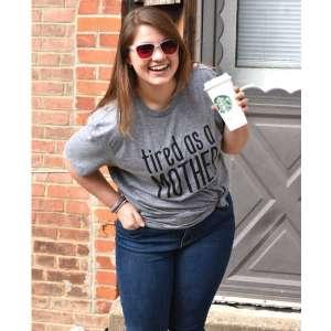 Tired As A Mother T-Shirt (XXL) #L34XXL