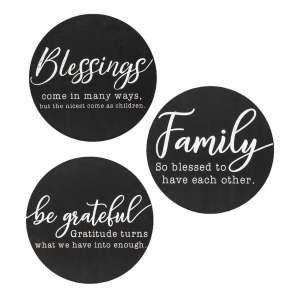 Family Sayings Round Sign, 3 Asstd. #35221