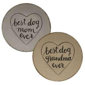 Best Dog Lady Plate, 2 Asstd. #35253