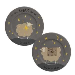 Be The Light Sheep Plate, 2 Asstd. #35263