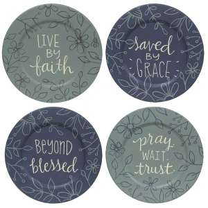Beyond Blessed Plate, 4 Asstd. #35265