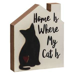 #35331 Home Is Where My Cat Is Chunky House