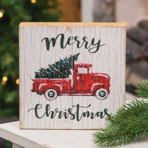 #65158 Merry Christmas Vintage Truck Sign