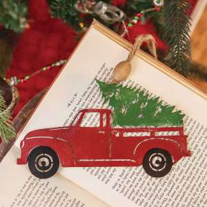 #70053 Christmas Truck Iron Ornament