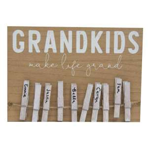 Grandkids Make Life Grand Clothespin Sign #35223