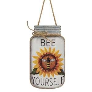 Bee Yourself Mason Jar Sign #35369