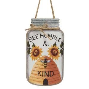 Bee Humble & Kind Mason Jar Sign #35370