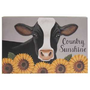Cow & Sunflowers Country Sunshine Box Sign #35372