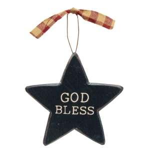 Patriotic Words Star Ornament, 3 Asstd.Patriotic Words Star Ornament, 3 Asstd. #35389