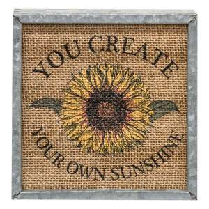 Your Own Sunshine Metal Box Sign #90972