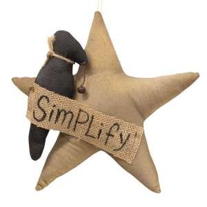 Simplify Star With Crow Ornament   #CS37935