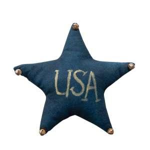 Navy USA Star Ornament w/Jingle Bells #CS37939