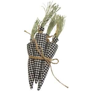 4/Set, Black & White Gingham Carrots #CS37944
