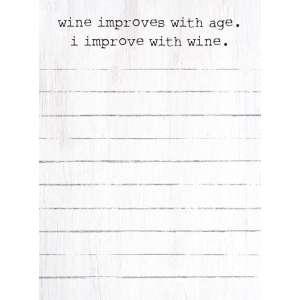 #50082, I Improve with Wine Mini Notepad
