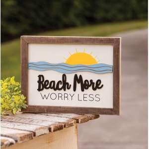 #35309 Beach More Worry Less Frame