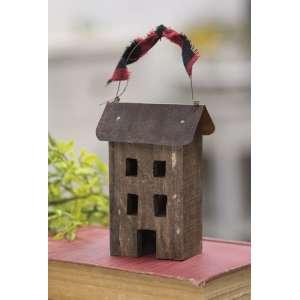Rustic Primitive Saltbox Ornament #35621
