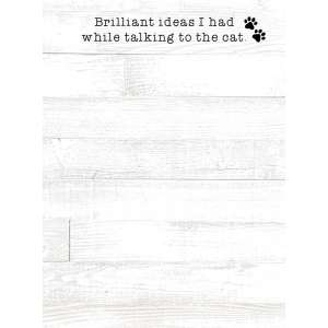 #54087 Brilliant Ideas I Had While Talking to the Cat Mini Notepad