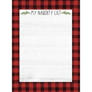 #54092 My Naughty List Mini Notepad