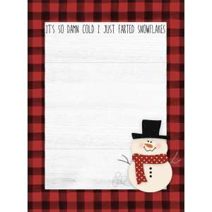#54093 It's So Damn Cold I Just Farted Snowflakes Mini Notepad